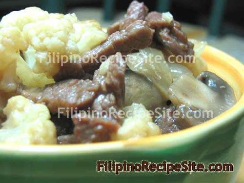 Beef with Cauliflower and Mushroom Stir-fry