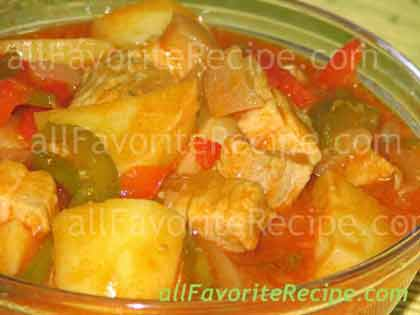 Pork Afritada Braised Pork In Tomato Sauce Filipino Recipe